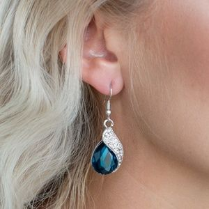 paparazzi Jewelry - Easy Elegance - Blue Earrings